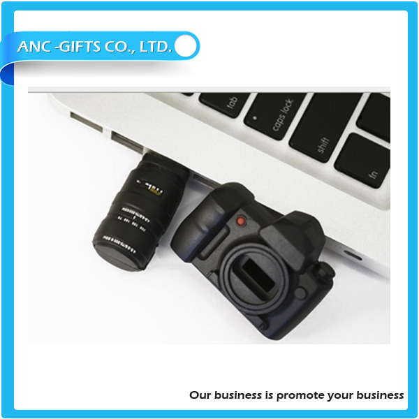 camera design promotional usb stick soft pvc usb flash