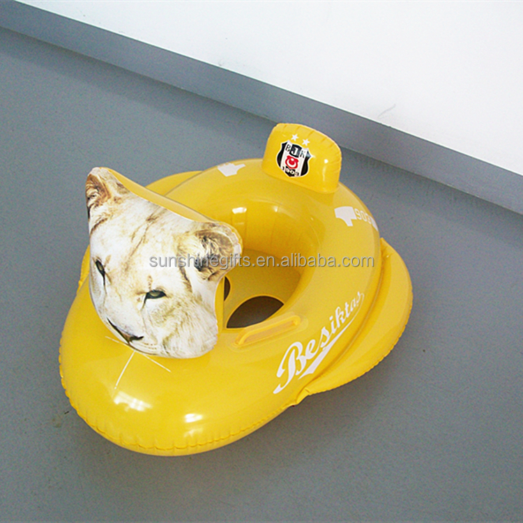 Kids Baby Swimming Seat Pool Car Ring Infant Inflatable Aid Trainer Float