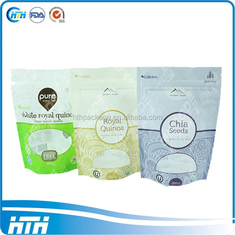 2017 New kraft biodegradable stand up pouch