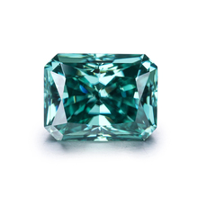 radiant cut 9*7mm green synthetic diamond high quality customized moissanite