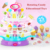 2019 High Quality Kids Music Educational Toy Battery Operated Candy Rack With Light Music And Rotation function