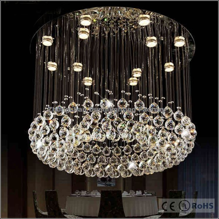 Modern style philippines wire long crystal chandelier lamp