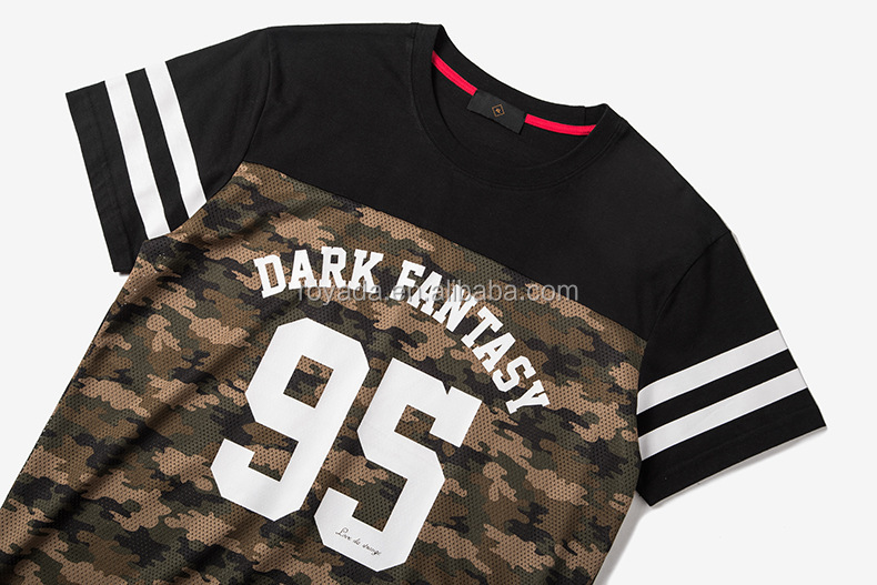 Casual Style High Street Fashion Camouflage Men's T Shirts