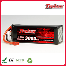 100% Brand New RC 22.2V 3000m 35c Li-polymer Lipo Battery for trex 500 Helicopter