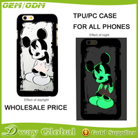 New products phone case for iphone 6 case for iphone 6 plus luminous cell phone cover glow in the dark
