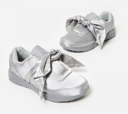 Custom Grey Superstar Casual Shoes Women 2017 Ladies Lace up Flats Grey Satin Trainer