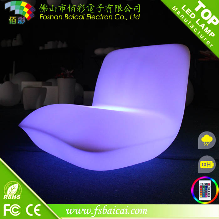 Modern hotel furniture design remote control glass top center table design led round mini bar table