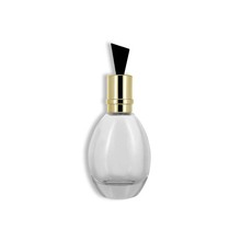50ml pretty egg shaped glass perfume bottle with gold cap