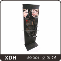 Wholesale fashion black color acrylic small makeup display shelves