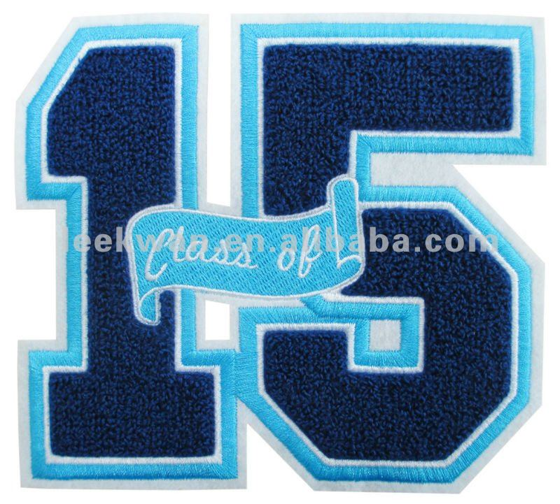 Letter Chenille Patch/Custom Towel Number Design/Garment Accessories