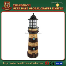 Factory Custom made best home decoration gift polyresin resin led lighthouse