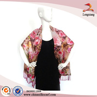 Handmade Dress Wraps Digtal Printed Silk Scarves Wholesale Pashmina Shawl