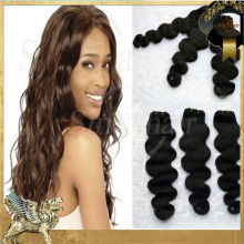 Wholesale body wave no tangle no shedding genuine raw indian hair extension