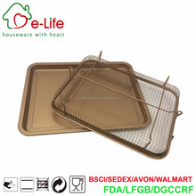 Stainless Steel Copper Color Coated Crisper Tray for Oven Use