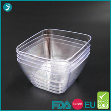 mini dessert square salad disposable plastic bowl with low price