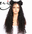 7A 8A 9A Grade natural color dyeable Unprocessed brazilian human hair 180% density kinky curly lace front wig for black women