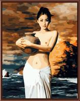 paintboy DIY framed canvas sexy nude woman body painting art by number