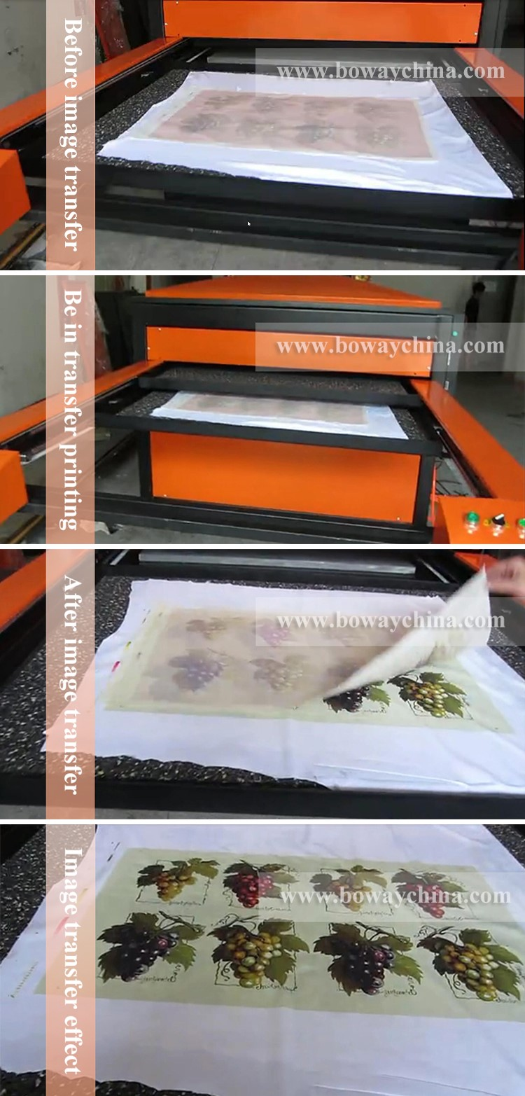 Hydraulic Automatic Large Double Station Sublimation Flatbed Textile fabric Thermal Heat Transfer Printer