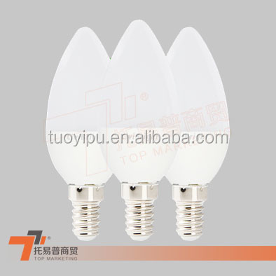 Warm White 5W 100-240V E14 LED Candle Lamp Bulb Wall Ceiling Light