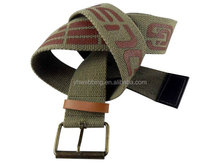 strong sublimation custom printed canvas belt with pin buckle