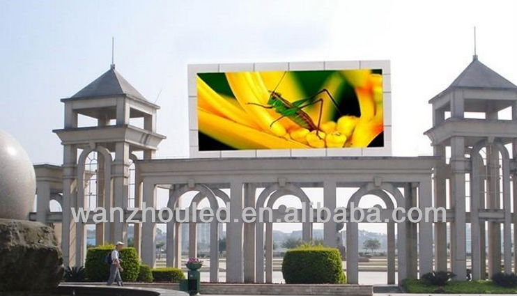 DIP PH10mm High resolution 10000 dots/sqm full color RGB LED display full color P10 DIP LED outdoor screen from Shenzhen