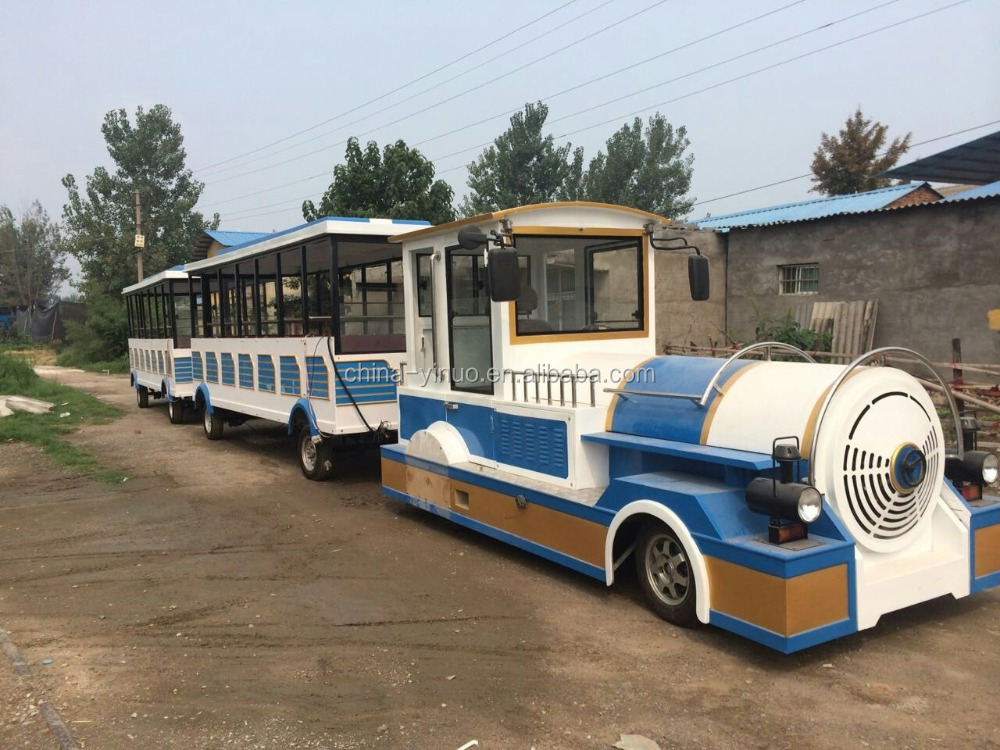 China supplier YIZHIJINNUO tourist electric trackless train carriage for sale
