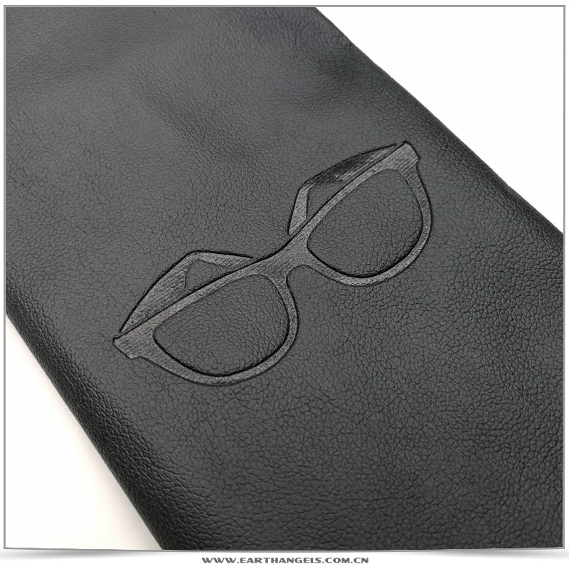 Custom soft pu leather glasses sunglasses pouch bag with logo