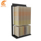 Double row page turning ceramic tile display stand Wood floor showroom display rack