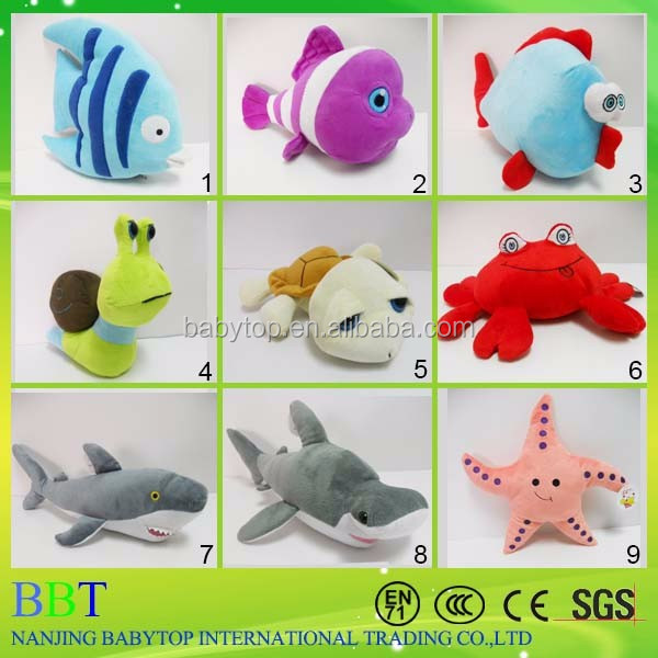 Wholesale plush sea animal/Cute soft stuffed ocean plush fish toys