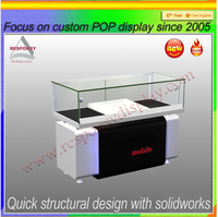 Modern Design Glass Store Mobile Phone Display Showcase