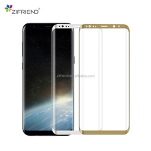 3D Curved full cover Mobile phone tempered glass for samsung galaxy S8 plus