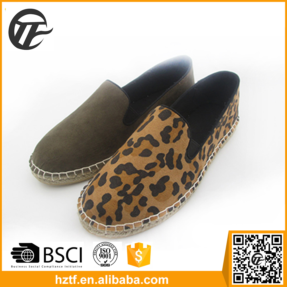 Brown Leopard sexy shoes for women China supplier 2016