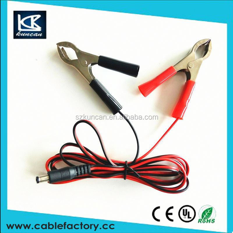 clip cable marker external power cable with alligator clips charging cable shenzhen kuncan