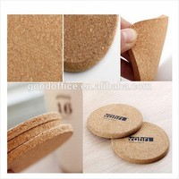 Factory wholesale custom beer coasters blank cork coaster