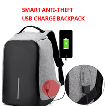 2017 China Suppliers Anti theft Laptop Backpack Bag with USB charging for Men Mochila