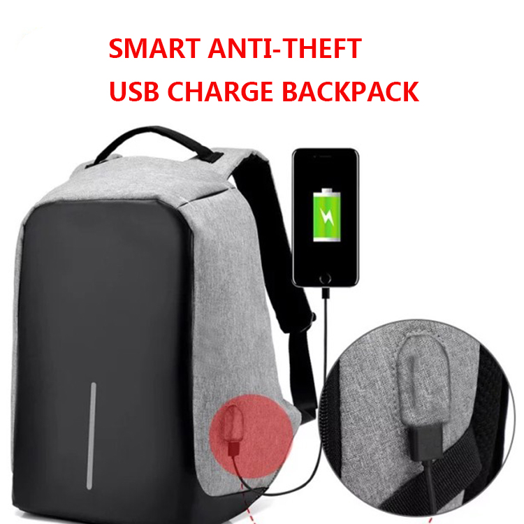 China Suppliers Anti theft Laptop Backpack <strong>Bag</strong> with USB charging for Men Mochila