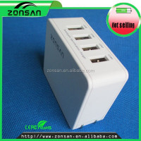 CE,ROHS,FCC Approved 4 port mobile phone portable charger , ODM/OEM quick deliver power sockets with smart IC