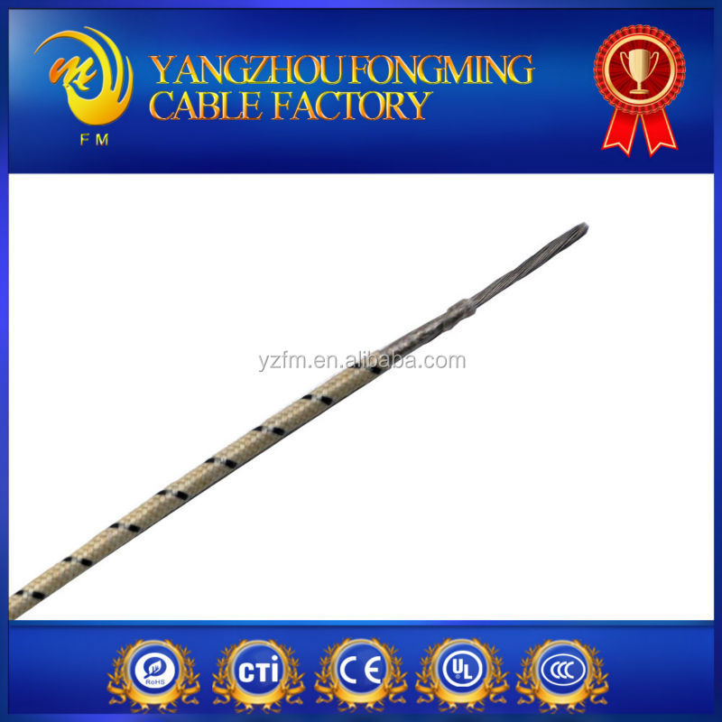 UL5128 300V 450 Degree Wire High Temperature and High Voltage Mica Glass Insulation Heating Cable Material