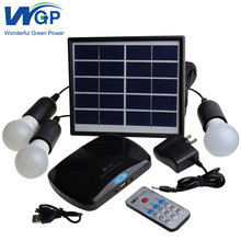 DC Portable Solar Power Generator System Home For Lighting