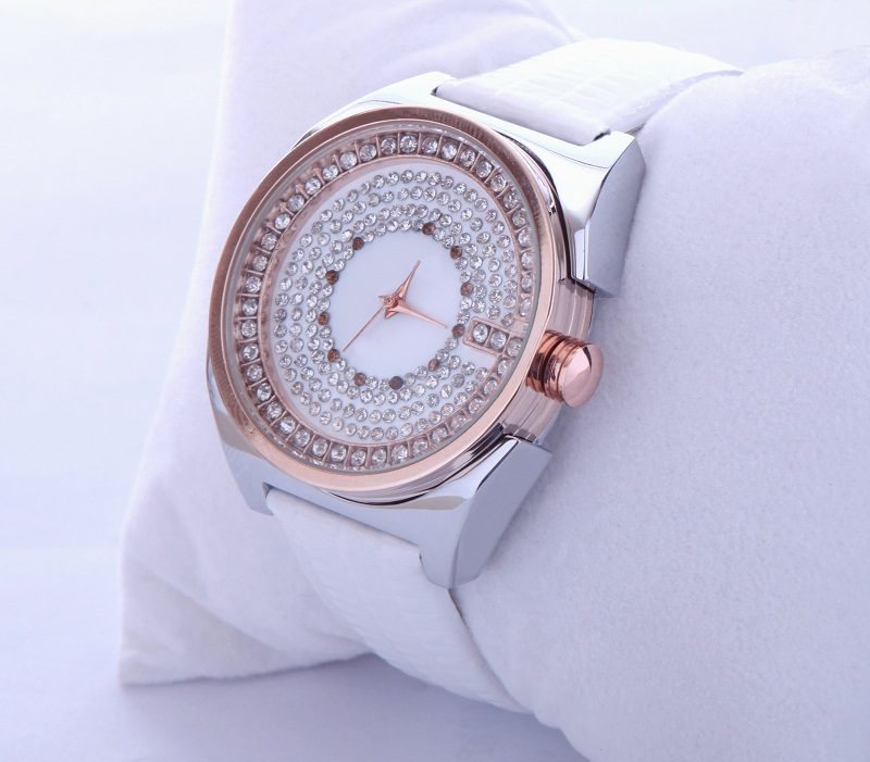 Assisi rose gold shiny diamond branded branded watch custom logo