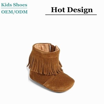2015 New Fashion Suede Baby Moccasins Boots Baby High Top