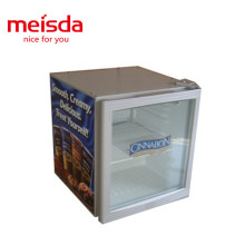 energy drink store use metal electric counter top mini display fridge