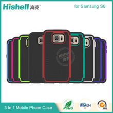 New Arrival 3 in 1 PC + Silicone Football Line Phone Cover Case for Samsung Galaxy S6