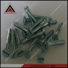 2016 Cheaper zinc galvanized slotted CSK head wood screws