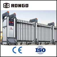 RONGO automatic aluminium alloy driveway sliding retractable gate from China manufacturer