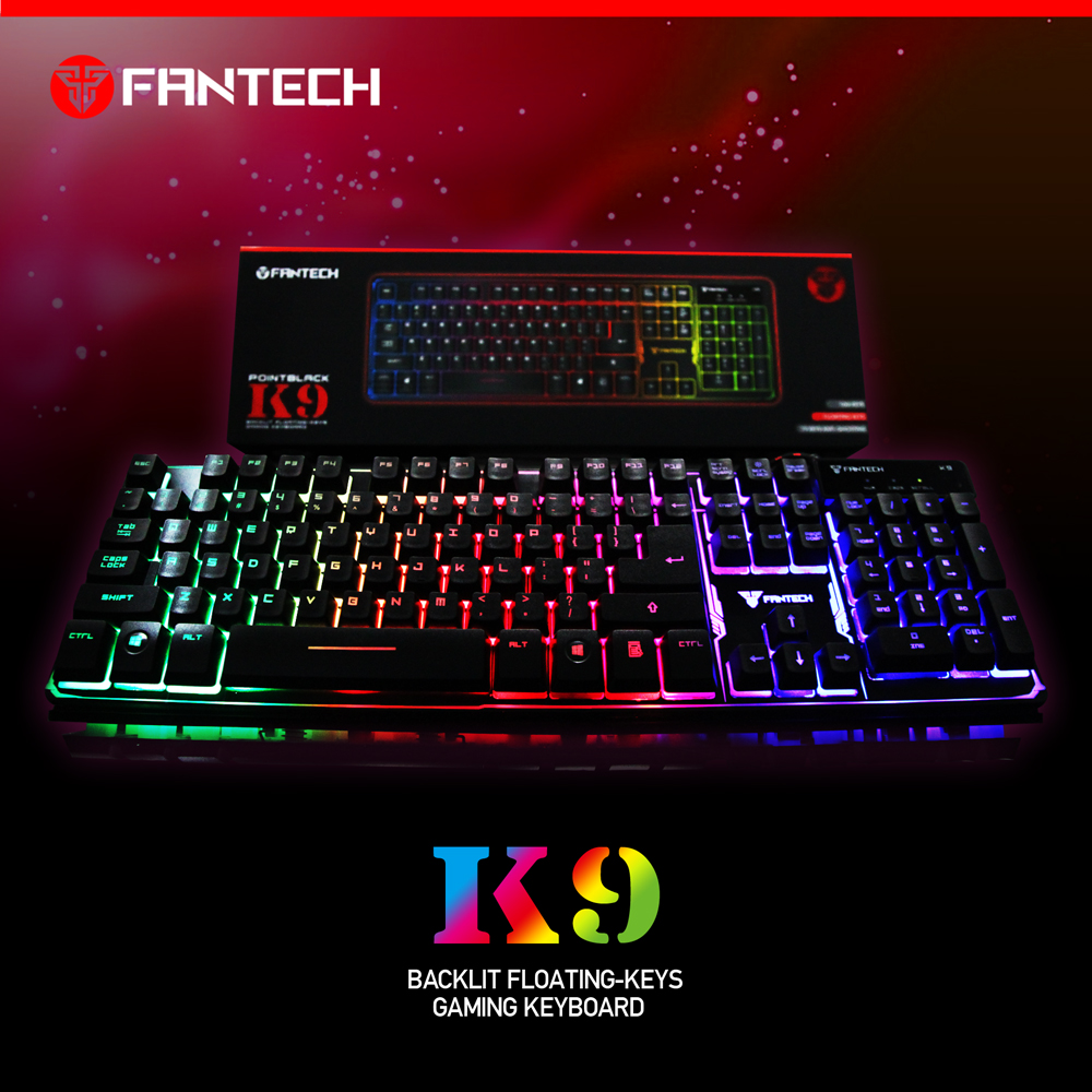 K9 Backlit Rainbow Gaming Keyboard 2016 Chroma Best Keyboard Gaming Fantech Good Quality Cheap