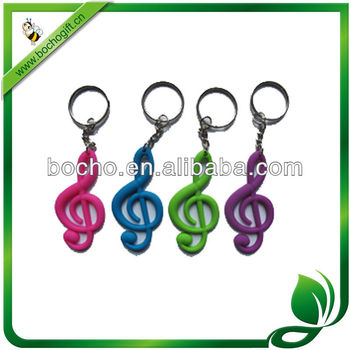 soft rubber key chain