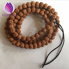 Natural nepalese 108 mala muslim prayer beads 8mm Rudraksha beads