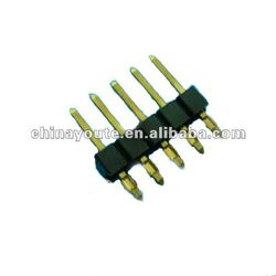 Single row pin header connector 2.54mm press fit type