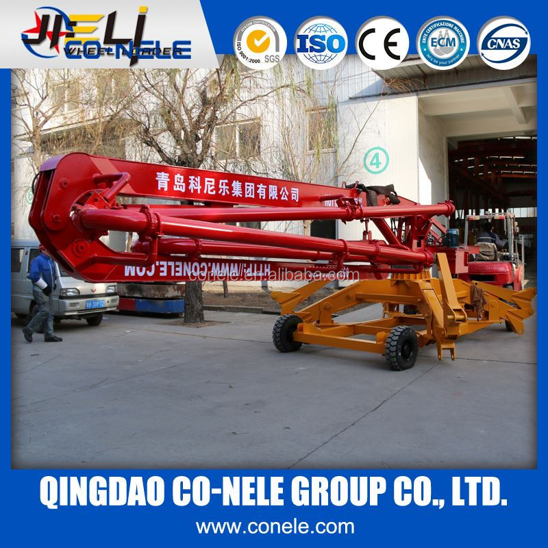 15m concrete equipment placing boom concrere pouring boom